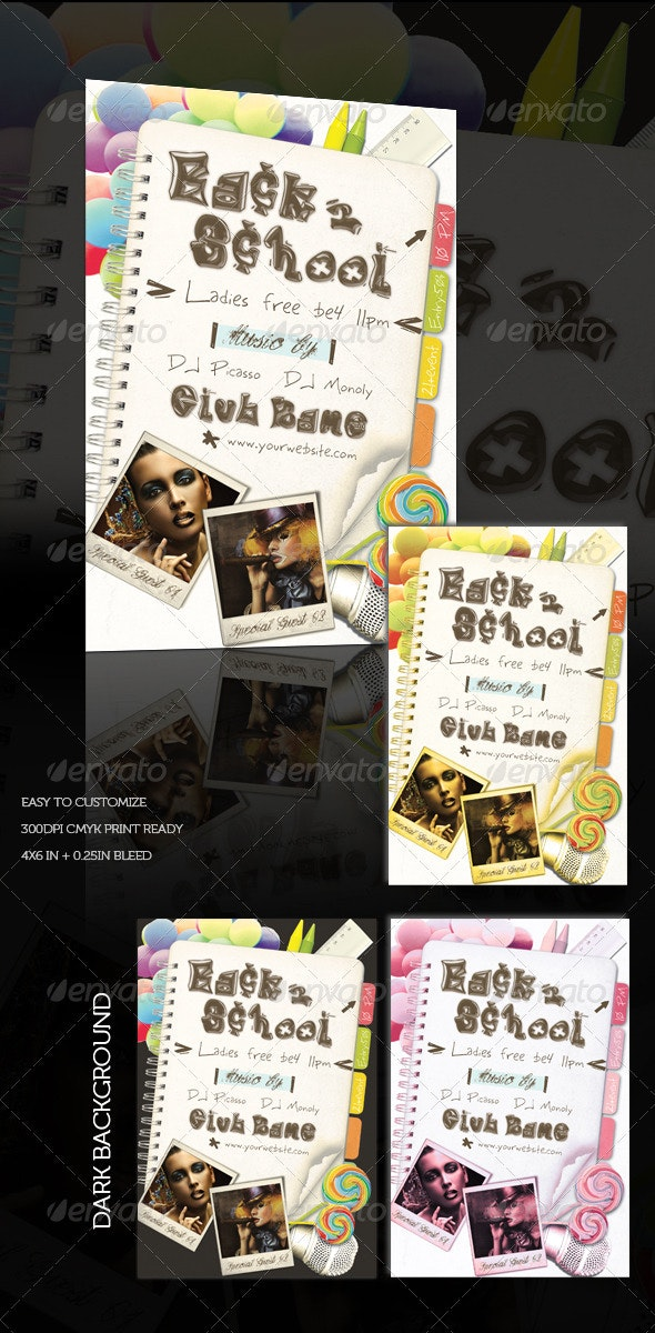 Event/Night Club Flyer Vol.07 - Back to School - Clubs & Parties Events
