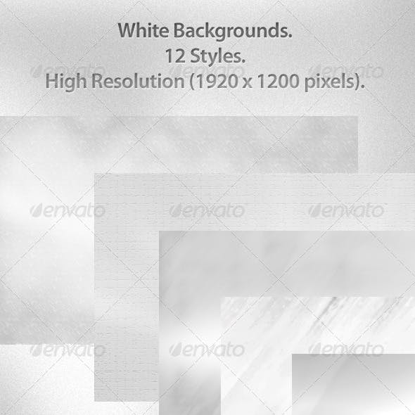 12 White Backgrounds 1920x1200