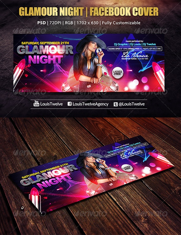 Glamour Night | Facebook Cover - Facebook Timeline Covers Social Media