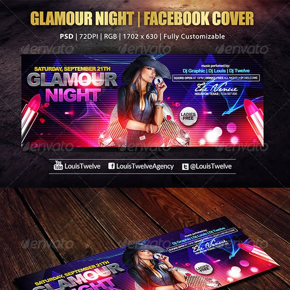 Glamour Night   Facebook Cover