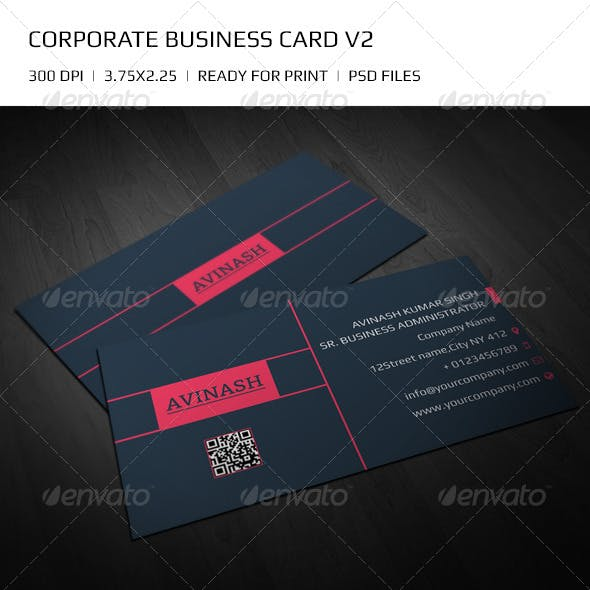 Flat Corporate Business Card v2