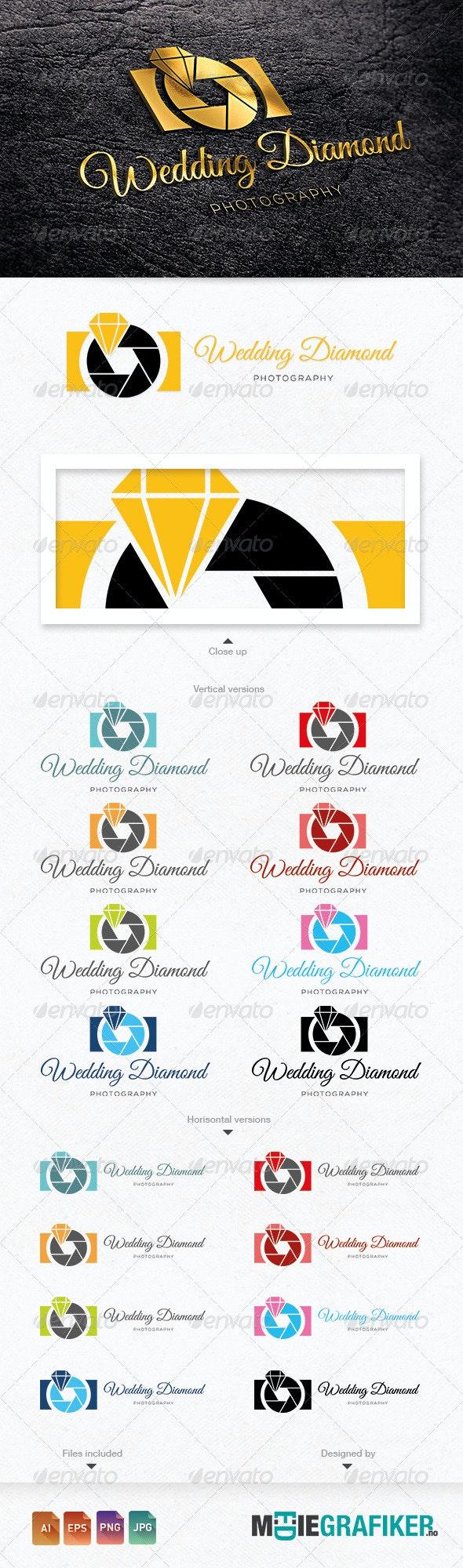 Wedding Diamond Photography Logo - Objects Logo Templates