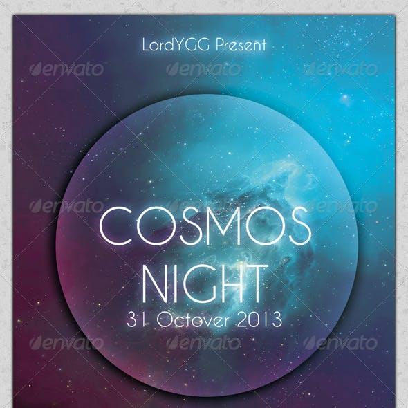 Cosmos Night Party Flyer