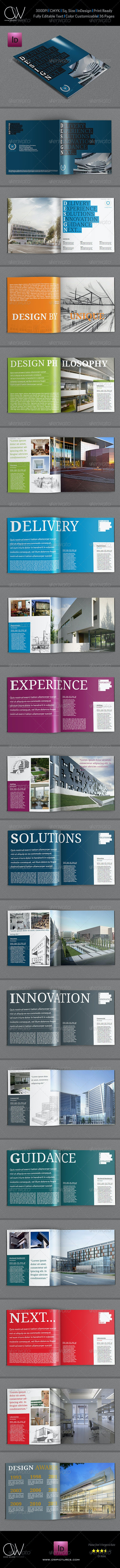Design Company Brochure Template - 36 Pages - Corporate Brochures