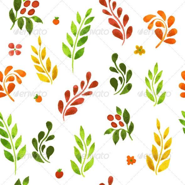Color Leafs Pattern - Backgrounds Decorative