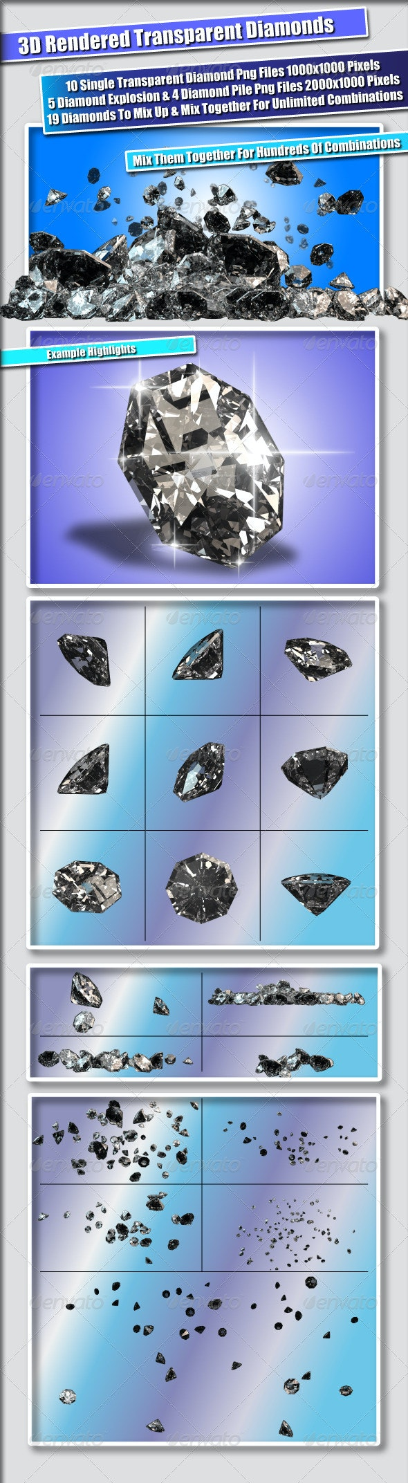 19 Diamond Png Files - 3D Backgrounds