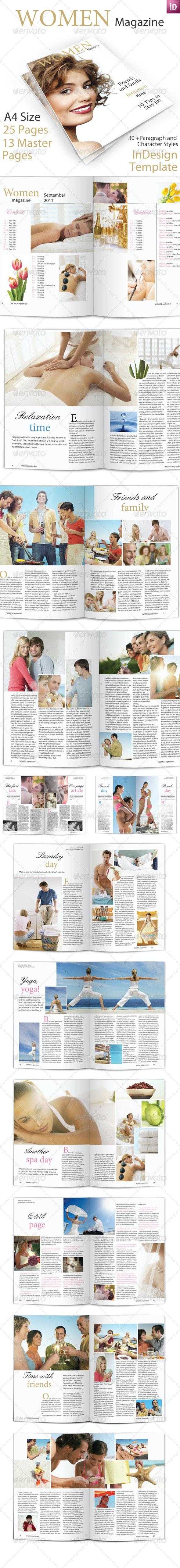 Women Magazine Template - Magazines Print Templates
