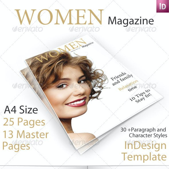 Women Magazine Template