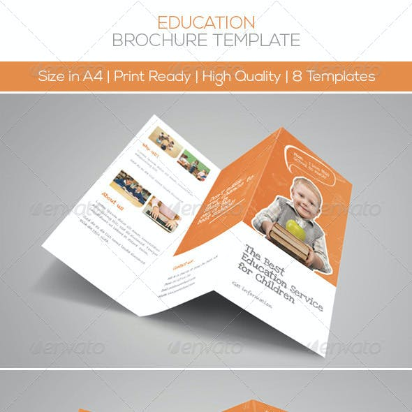 Premium Education Brochure Tri-fold & Bi-fold