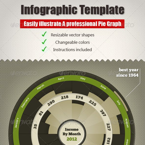 Infographic Pie Chart - Round Graph