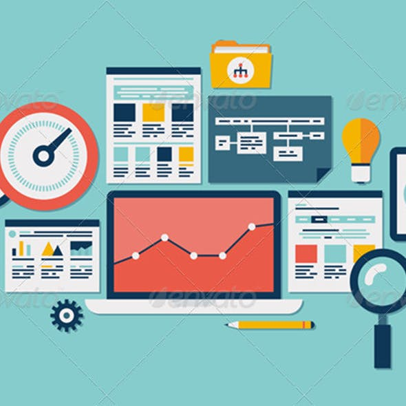 Website SEO and Analytics Illustration