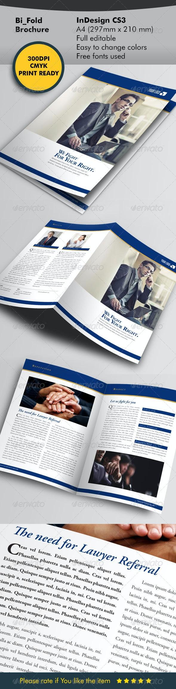 Lawyer Brochure Template - Corporate Brochures