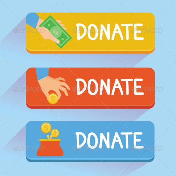 Vector Donate Buttons