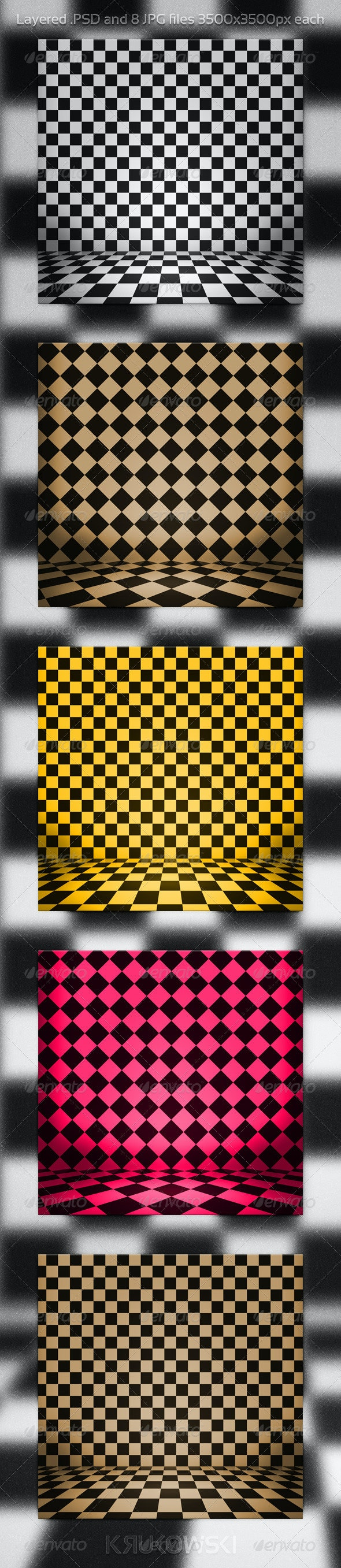 Checkerboard PSD Background - 3D Backgrounds