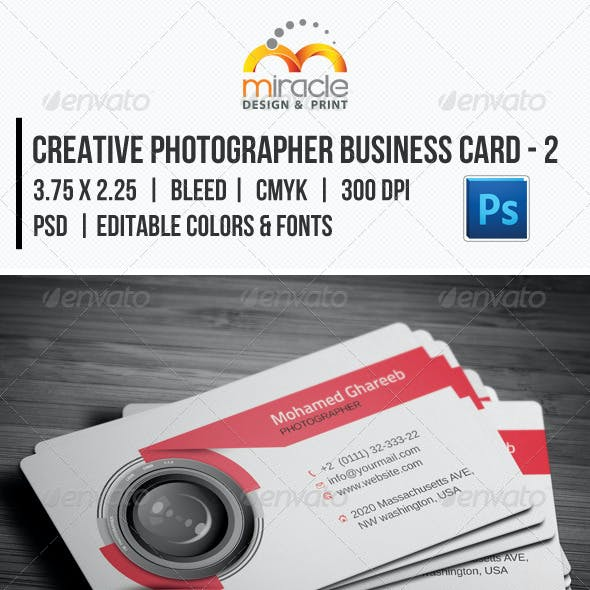 Creative Photographer Business Card - 2