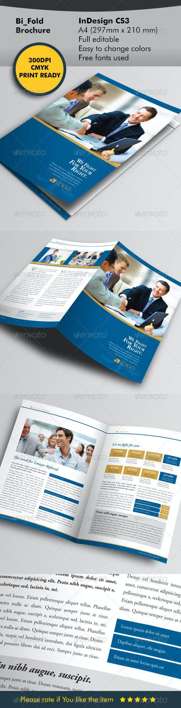 Lawyer Bifold Template - Corporate Brochures