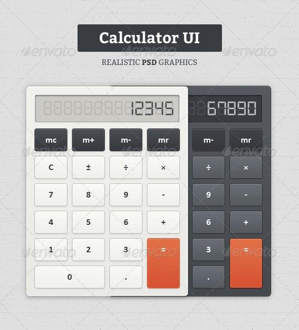 Calculator UI - Web Elements