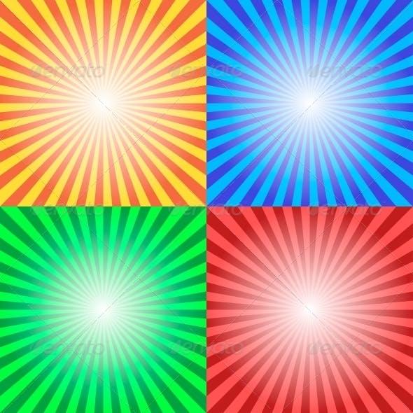 Color Sun Sunburst Background