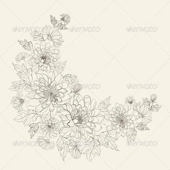 Flower Wreath of Chrysanthemum