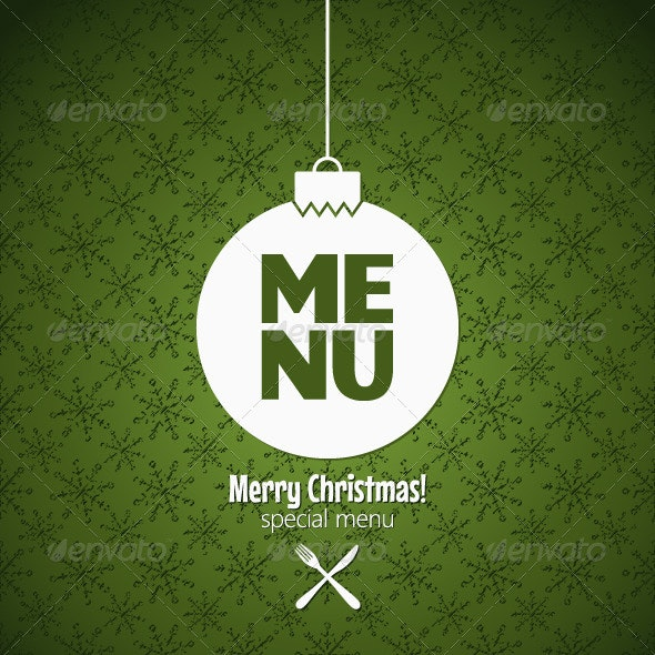 Winter Holidays Special Menu Design - Christmas Seasons/Holidays