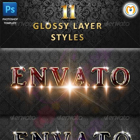 Glossy Layer Styles V.2