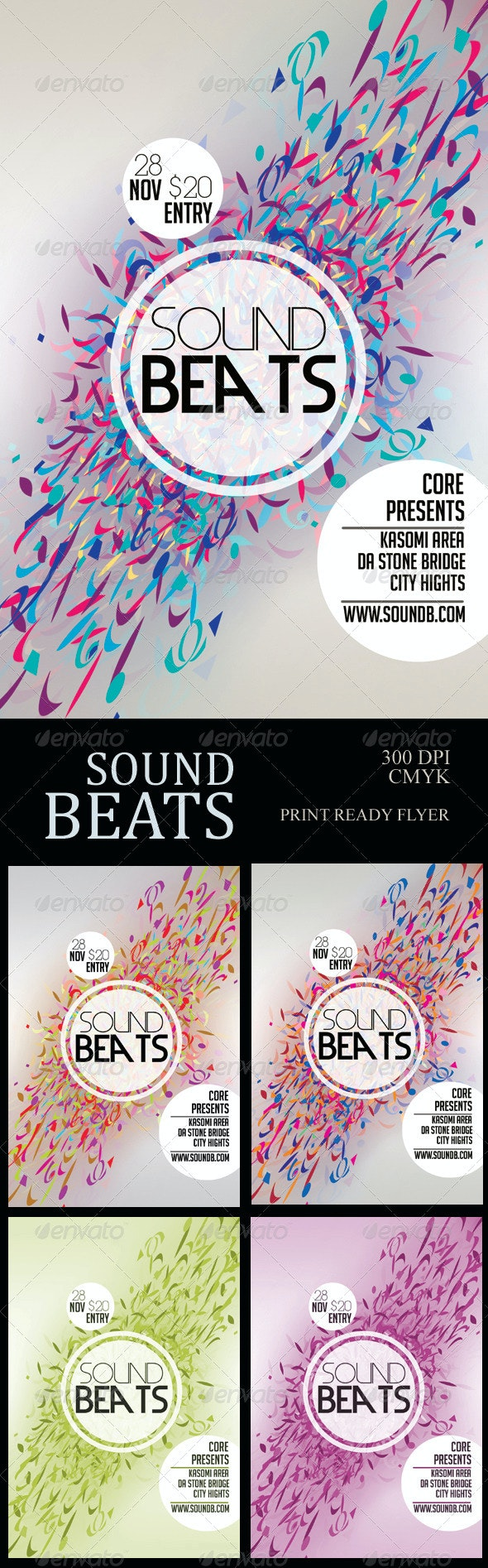 Sound Beats Futuristic Flyer - Clubs & Parties Events