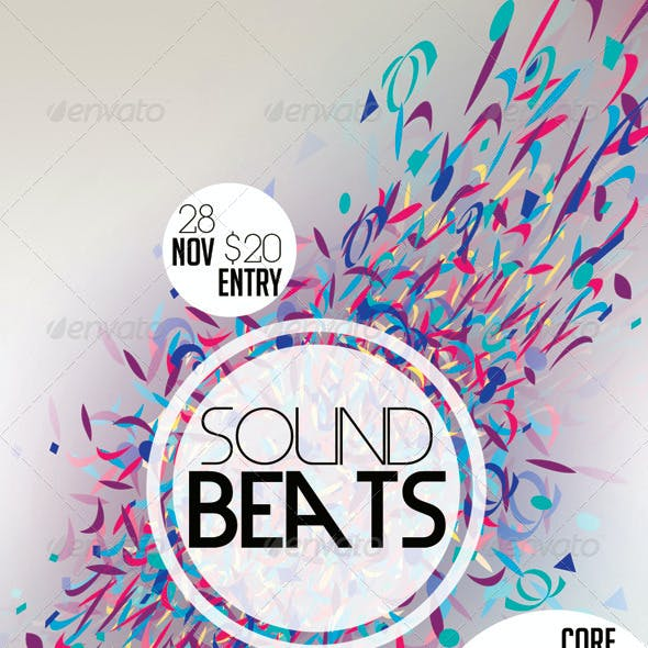 Sound Beats Futuristic Flyer