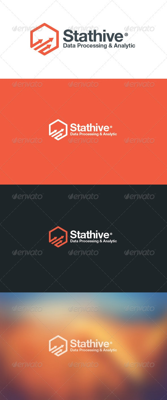 Stat Hive Data Analytic Logo - Abstract Logo Templates
