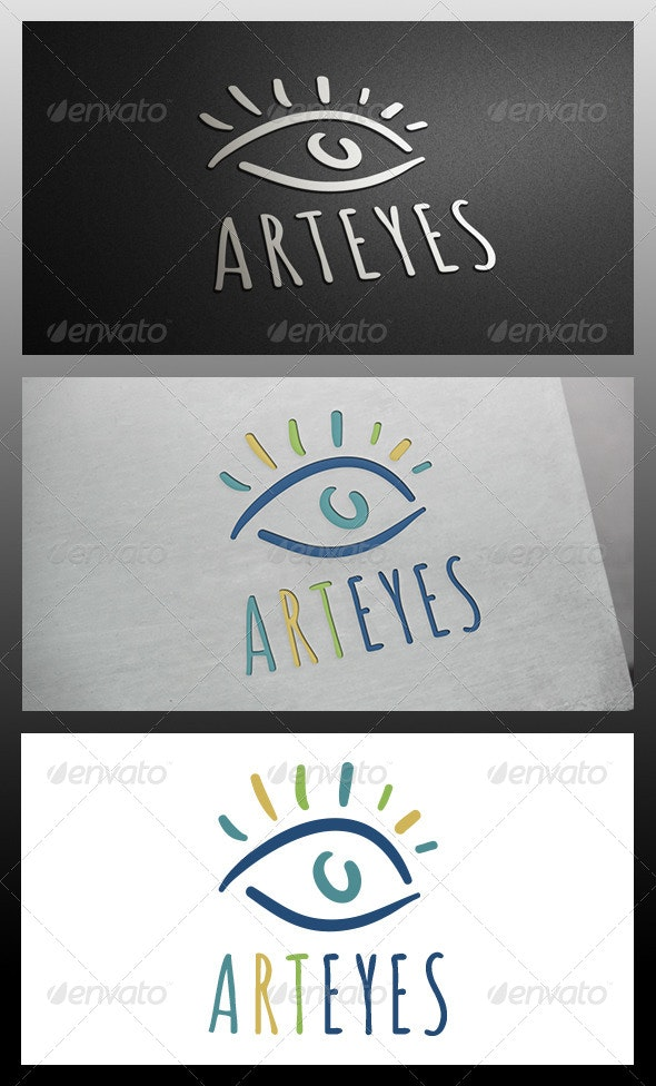 Eye Art Logo Template - Symbols Logo Templates