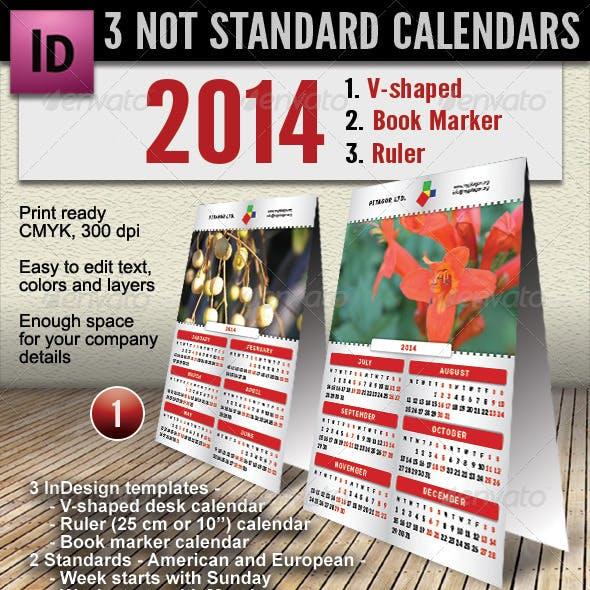3 Not Standard Calendars - 2014