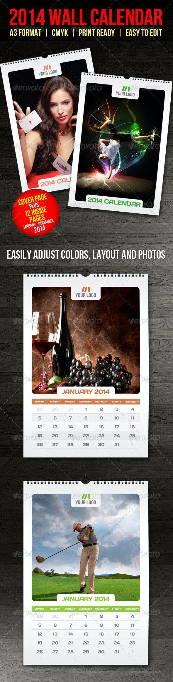 2014 Wall Calendar - Calendars Stationery