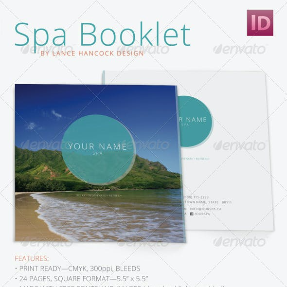 Square Spa/Wellness Booklet Brochure