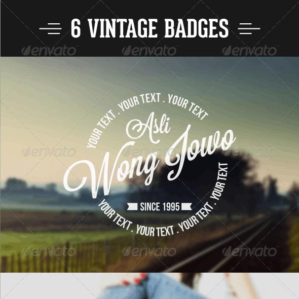 6 Design Badges