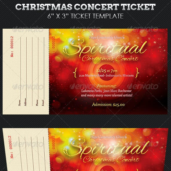 Spiritual Christmas Concert Ticket Template