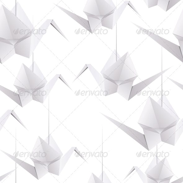 Origami Crane made from Paper