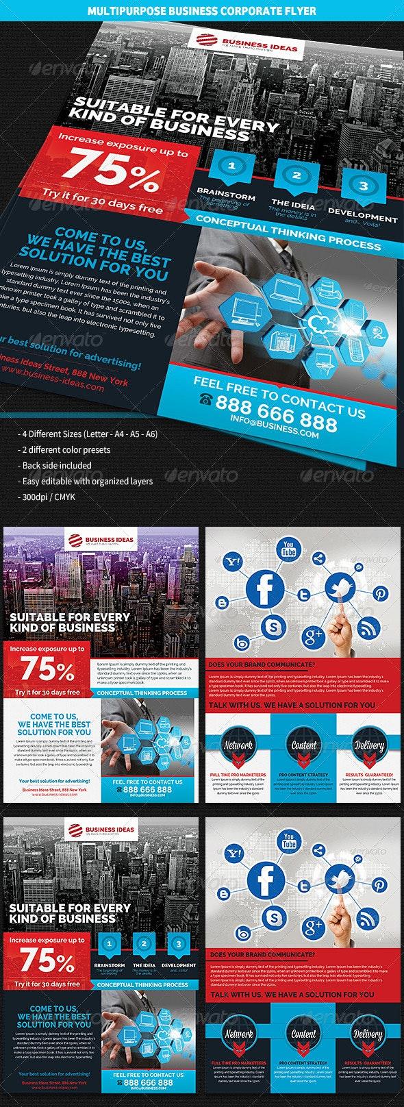 Multipurpose Corporate Business Flyer - Corporate Flyers