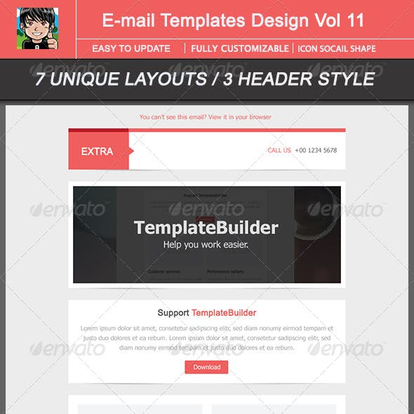 Extra Email Template Design Vol 12