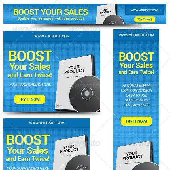 Marketing Box Web Banner Design