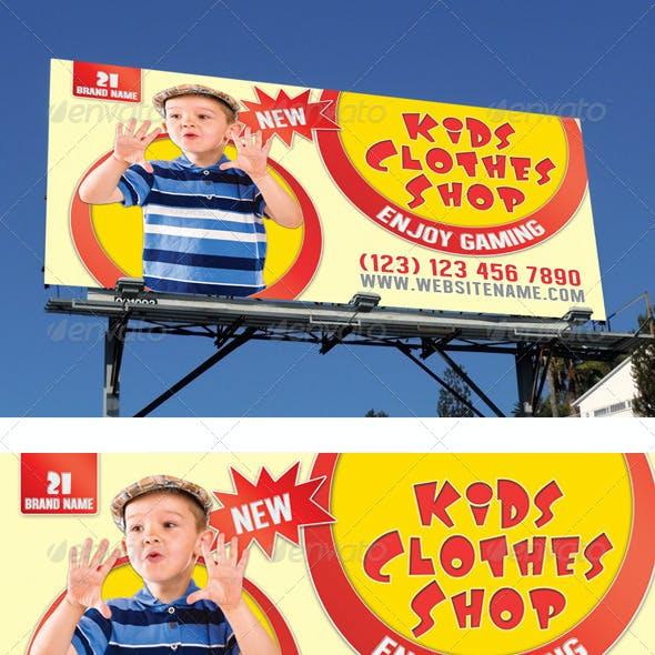 Kids Clothes Shop Outdoor Banner 02