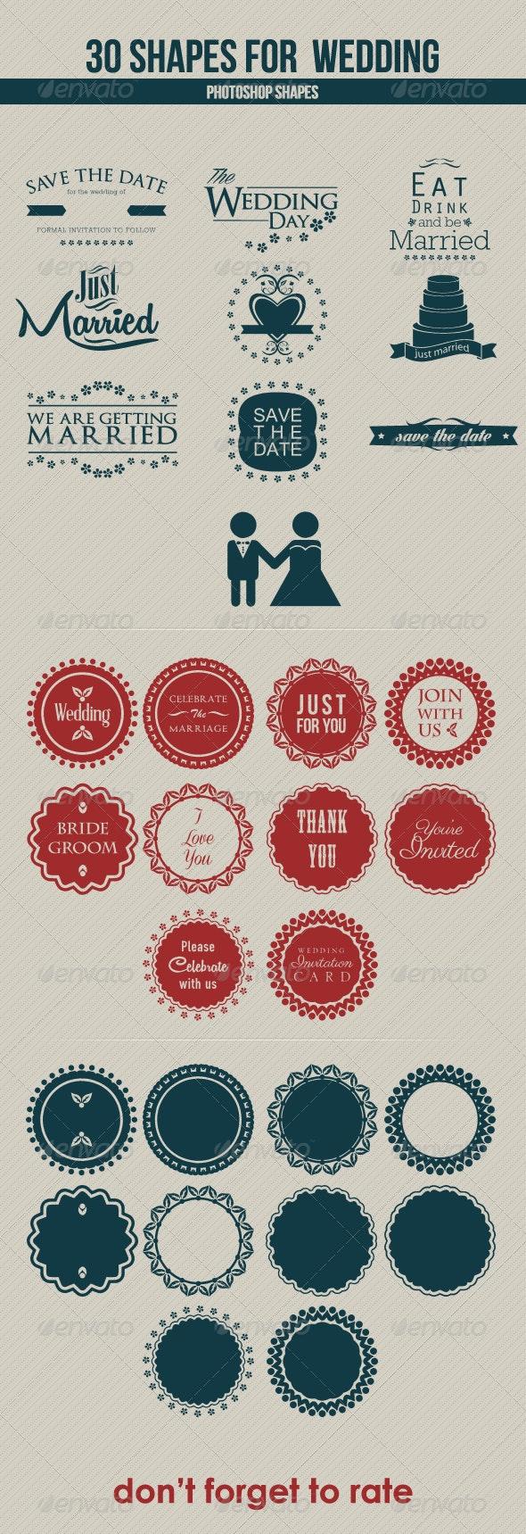 30 Shapes for Wedding - Shapes Photoshop