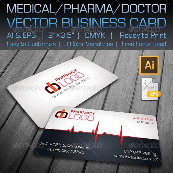 Medical / Pharma / Doctor Business Card