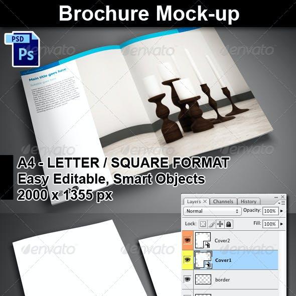 4 PSD Brochure Mock-Ups
