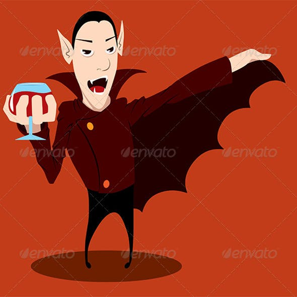 Cheerful Count Dracula