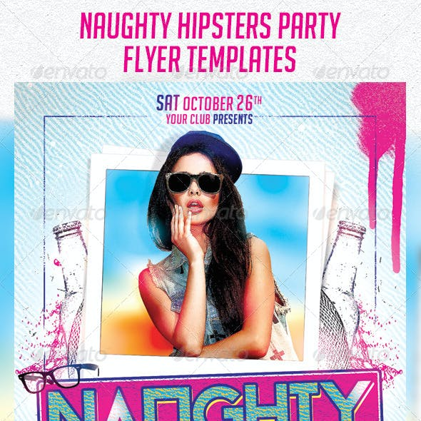 Naughty Hipsters Flyer Templates