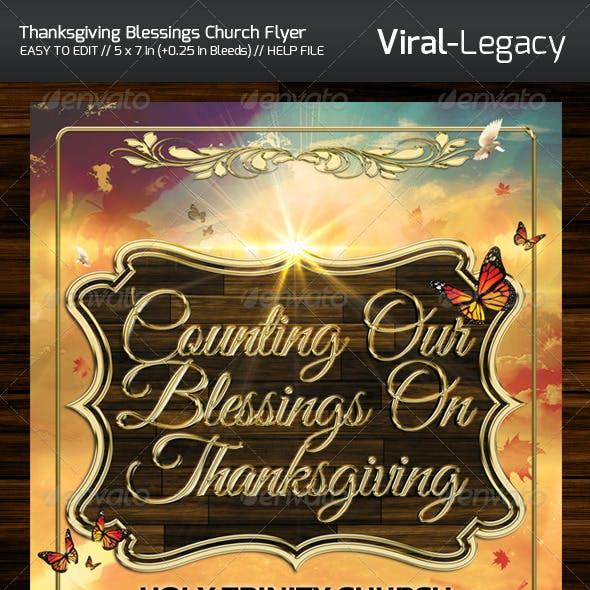 Thanksgiving Blessing Church Flyer