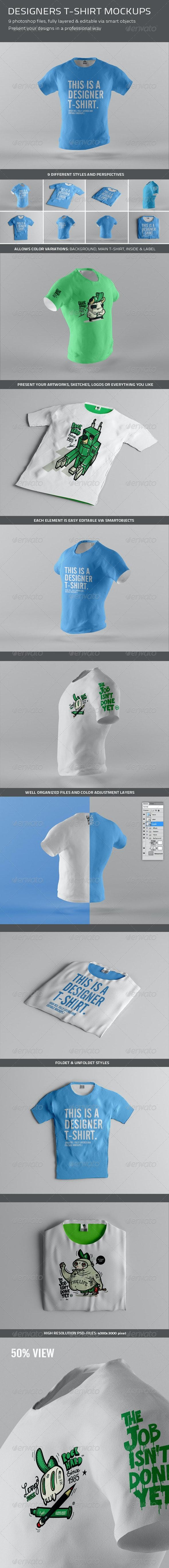 Designers T-Shirt Mockups - T-shirts Apparel