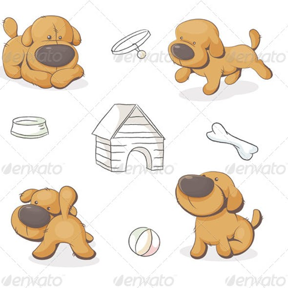 Set of Teddy Dogs