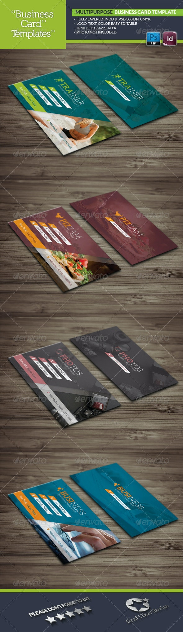Multipurpose Business Card Template - Business Cards Print Templates