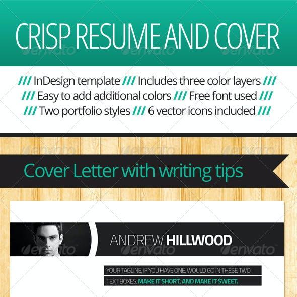 Crisp Resume, Cover, Portfolio Template