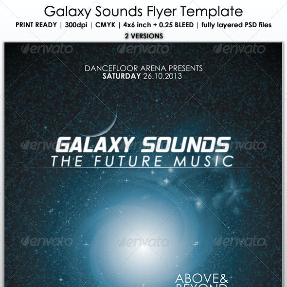 Galaxy Sounds Flyer Template